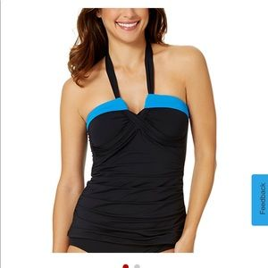 Anne Cole Bandeau Halter tankini and skirt